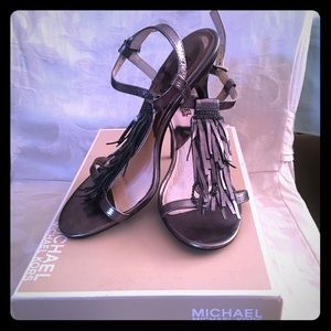 NIB - Michael Kors Gunmetal Grey Vienna Sandal
